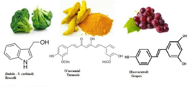 Kurkumina, indolo-3-karbinol i resweratrol w chemoprewencji raka sutka